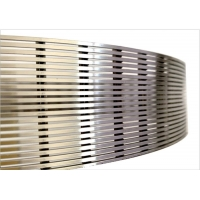 Quality Mine Sieve Stainless Steel Wedge Wire Screen W6M V Shape Hole for sale