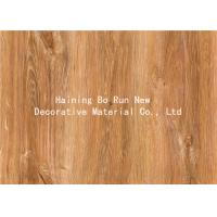 Quality MDF Skirting Board Cover Wood Grain Film Brown Color 500 Meters / Roll for sale