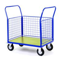 Quality Steel Wire Shipping Containers Trolley For Supermarket Medium Duty for sale