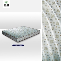 Quality Custom Printed 70g-90gsm Polyester Mattress Fabric Good Light Resistance for sale