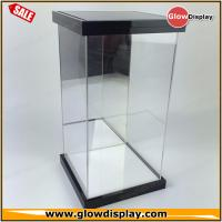 Quality self-assembly custom 1/6 scale LED lighted clear figure acrylic display case for collection toys for sale
