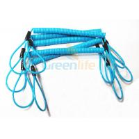 Quality Hot Fashion Peacock Blue Elasticated Spring Tool Tether With Double Loop Ends for sale