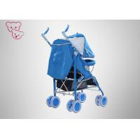 Quality Blue Baby Umbrella Stroller Full Canopy Aluminum Tube 5 Points Safety Belt for sale