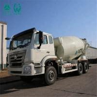 China Dynamic Force Output Concrete Mixing Truck / Euro 2 Front Discharge Mixer Truck on sale