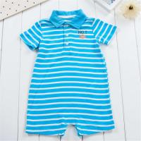 Quality Polo Collar Cute Baby Boy Outfits Boy Bodysuit Simple Stripe Patterns Baby Wear Clothes for sale