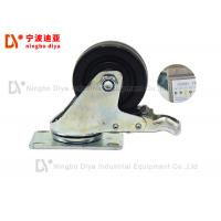 Quality Anti Static Plate Caster Wheels For Hand Cart / Lean Tube Shelves for sale