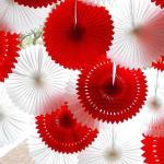 Quality Solid Color Pierced Paper Fan Decorations Paper Backdrop Decor for sale