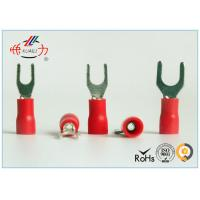 Quality Red SV series Copper Electrical Insulated Wire Spade Connectors AWG 22~16 for sale