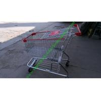 Quality Zinc Plated Wire Shopping Trolley Cart 4 Wheels Heavy Loading For Store for sale