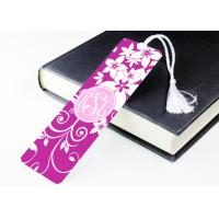 Quality Full Color Printed Personalized Metal Bookmarks With Tassels For Collection Gits for sale