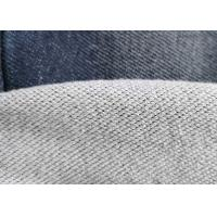 Quality Premium Cotton Blended Knitted Denim Fabric Double Layer French Terry Indigo for sale