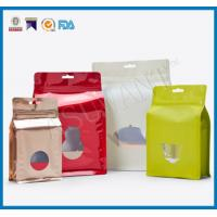 Quality Custom Laminated Coffee Packaging Bags , Stand Up Pouches FDA Approved With Window for sale