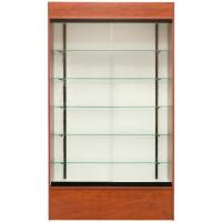 Quality Tall Retail Wall Display Shelves Glass Fronted Wall Mounted Display Cabinet With LED Light for sale