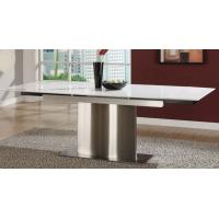 Buy cheap Pure White Artificial Marble Dining Tables Modern Marble Top Kitchen Table from Wholesalers