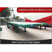 Quality BPW Axle 40ft Heavy Duty Flatbed Trailer With Super Single Tire Air Suspension for sale