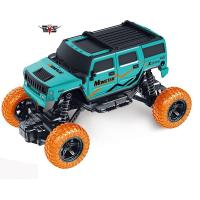 China Electric RC toy car monster truck blue color remote control 1:18 RC monster climbing truck car toy  666-278B on sale