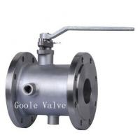China Manual handle Jacketed Ball Valve on sale