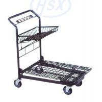 Buy Custom Unfolding Market Portable Shopping Cart Heavy Duty Mesh Airline at wholesale prices