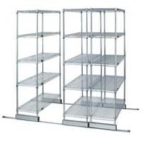 Quality High Density Compact Floor Track Double Deep Sliding Wire Storage Racks Solutions for sale