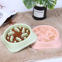 Quality Pet Food Bowl Slow Feed Slow Down Eating Dog Pet Feeder Dog Food Bowl Plastic Pet Bowl for sale