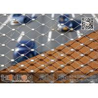 China AISI 316L Ferruled Stainless Steel Wire Mesh Netting | Wire Cable Mesh on sale