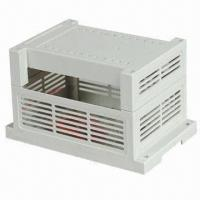 Quality Terminal Block/Case PCB Project Box/DIN Rail Enclosure, Measures 107 x 88 x 59mm  for sale