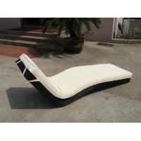 Quality Hotel Park Strong Brown Sunlounger With Power Coated Aluminum Frame for sale