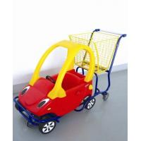 Quality Durable Grocery  Kids Shopping Carts Metal Frame Plastic Colorful With Seat for sale
