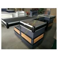 Buy Automatic Cashier Checkout Counter With Conveyor Belt / Walmart Cash Counter at wholesale prices