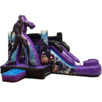 Quality Black Panther 	Kids Inflatable Bounce House With Dry Slide 3 Years Warrenty for sale