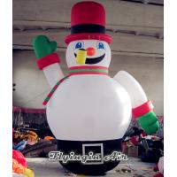 Quality Cute Inflatable Christmas Snowman with Red Hat for Christmas Outdoor Supplies for sale