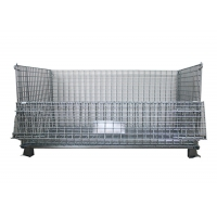 Quality L1000mm Wire Mesh Container , Foldable Wire Mesh Pallet Cages for sale