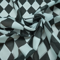 Buy cheap Black And White 43D Jacquard Plaid Fabric Mattress Cover Cloth Anti Static from wholesalers