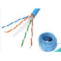 Quality 4 Pairs Ethernet Lan Cable / CAT6 UTP Cable 1000ft 0.58mm BC Fluke Pass for sale