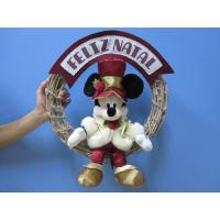 Mickey Mouse Disney Plush Toys with Wreath / Christmas Holiday Stuffed Toys