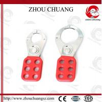 Useful New Safety  Red 40mm PA Body Steel Hasp WIth Hook,for  lock