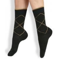 Quality Classical Argyle Design Wool Mid-calf Striped Seamless Dress Socks For Men for sale