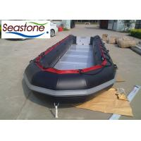 Quality Black Color Rubber Dinghy Boat , Aluminum Floor Inflatable Boats Length 850cm for sale