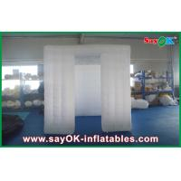 China Customized Inflatable Photo Booth Enclosure White LED Lighting With Widows on sale