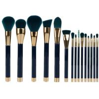 Buy cheap 15 Pieces Popular Makeup Brushes Made Of Three Color Nylon Hair And Gold Aluminum from Wholesalers