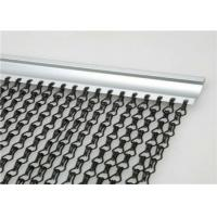 Quality 1.6 Mm Chain Link Curtain , Aluminium Chain Insect Door Fly Screen Curtain for sale