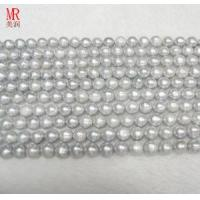 Quality 9-10mm Grey Freshwater Pearl Strand Necklace (ES186) for sale