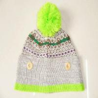 Quality 100% Acrylic Knitting Pattern Winter Hats and Caps for sale