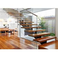 U Y L Shaped Open Tread Wood Stairs Building Floating Stairs
