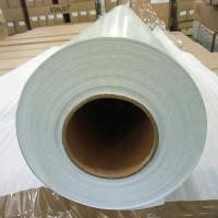 Quality Pure White Self Adhesive Wood Grain Vinyl Film , Adhesive Vinyl Paper Sheets for sale
