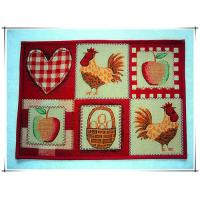 China Rooster design colorful decorative fancy anti-slip floor mat tapestry fabric door mat on sale