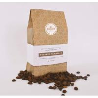 China 250g 1kg biodegradable paper coffee bags / side gusset kraft paper coffee bag on sale