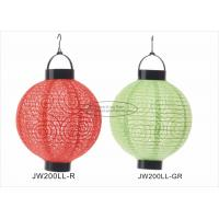 Eyelet Outdoor Paper Lantern Lights , Battery Operated Paper Lanterns For Weddings