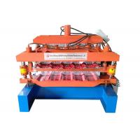 Quality Color Sheet Double Layer Roll Forming Machine Productivity 20-25 M/Min Shaft Diameter 70mm for sale