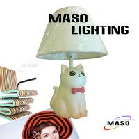 Quality Kitten Lamp MASO Lighting Resin Table Lamp E14 CE approval Base Replacable Light Bulb 3017 for sale